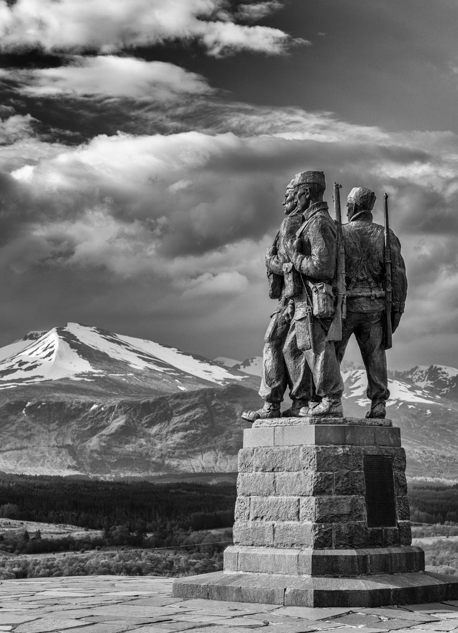 Commando Memorial, Lochaber, Scottish Highlands by Garry Roper.The area around Spean Bridge, was the WW2 training ground for the Commando's.