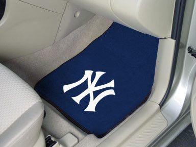 The New York Yankees Carpet Car Floor Mat 2-piece Set for Yankee ...
