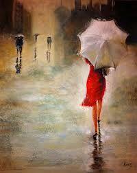 Caminando Solitaria Bajo La Lluvia Correr Bajo La Lluvia Mujer Bajo La Lluvia Lluvia