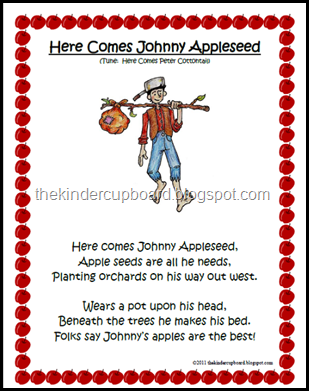 Johnny Appleseed Song Visit The Kinder Cupboard Blogspot For Your Free Download Johnny Appleseed Preschool Songs Apple Preschool