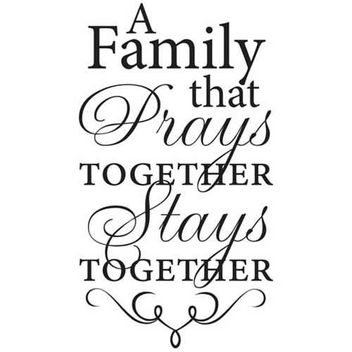 A Family That Prays Together Inspirational Wall Vinyl Cards