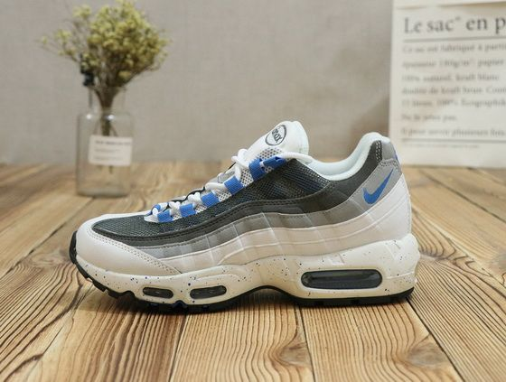newest 612c5 436e3 ... best price nike air max 95 white pale grey sky blue genuine 2018  sneaker 98196 5ad38