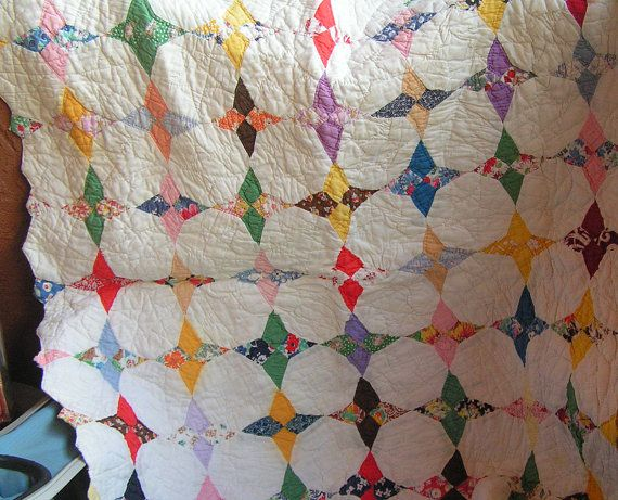 Doll Quilt Snowball Four Pointed Star Scalloped Edged