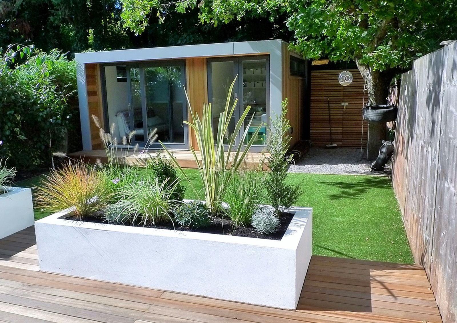 Clapham and balham modern garden design decking planting artificial