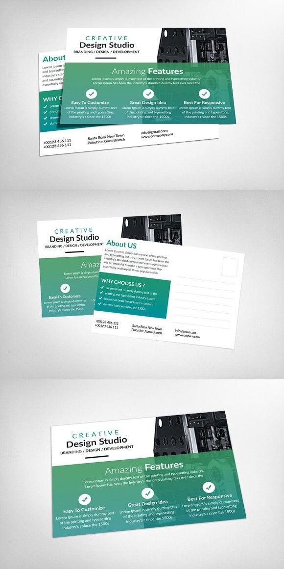 Creative Business Postcards. Website Design | Website Design ...
