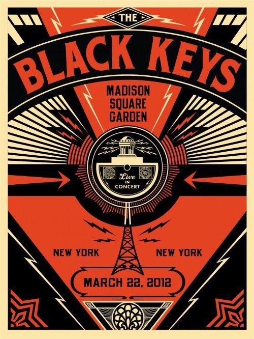 The Black Keys at Madison Square Garden | Designer: Shepard Fairey