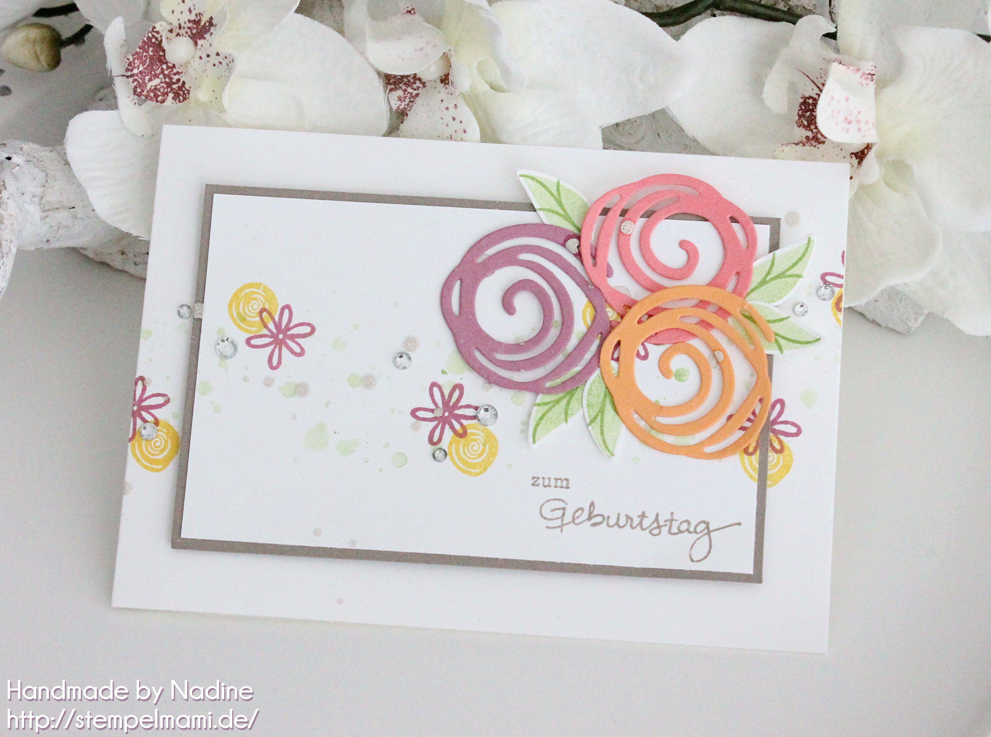 Stampin Up - Geburtstagskarte -Birthday Card - Grusskarte - Karte ...