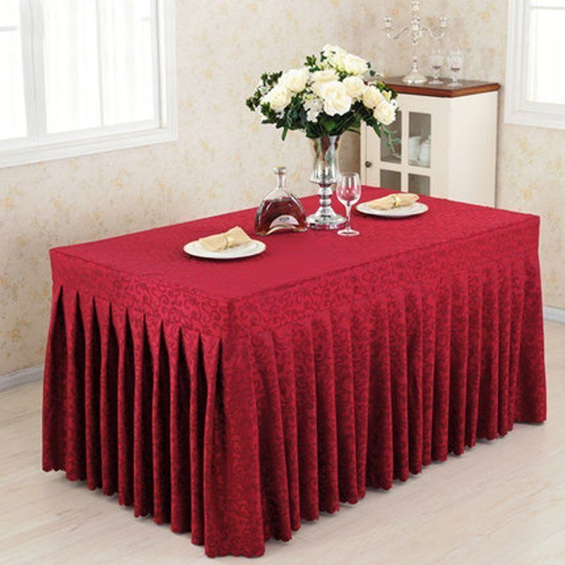 1pcs 4u0027 ft fitted tablecloth party table cover wedding banquet event polyester