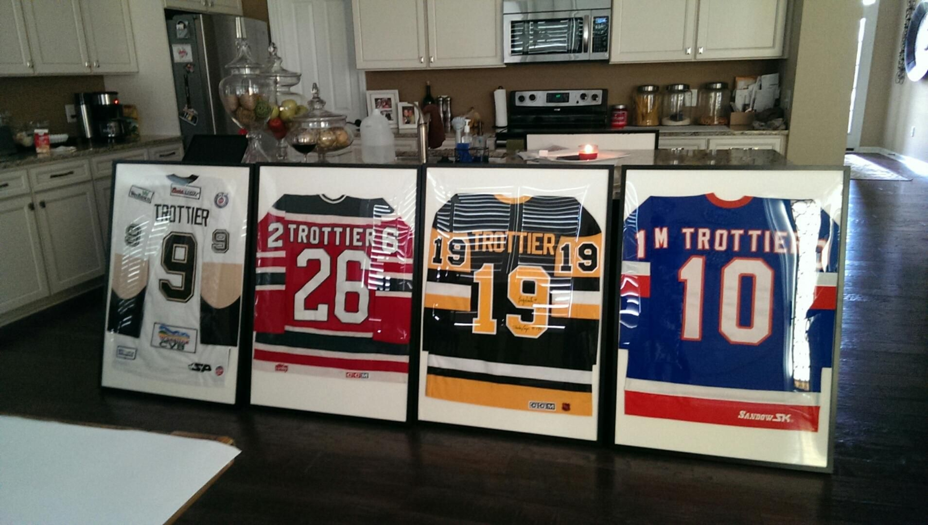 6225698b2 Framed hockey jerseys for the basement. Bought frames from IKEA. So excited!