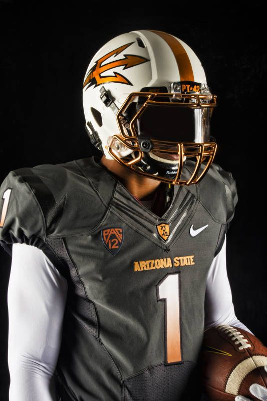 New Asu Football Uniforms Copper And Grey Asu Football Football