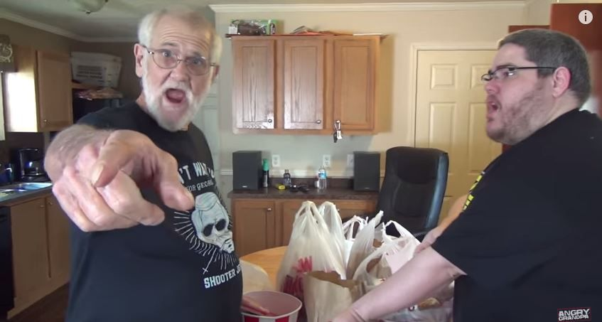 ANGRY GRANDPA HATES PICKLEBOY! - http://www.flickr.com/photos/132985713@N07/20906499955/