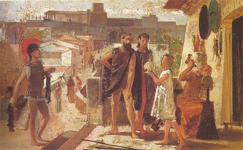 The Etruscans in Perugia by Federico Faruffini.