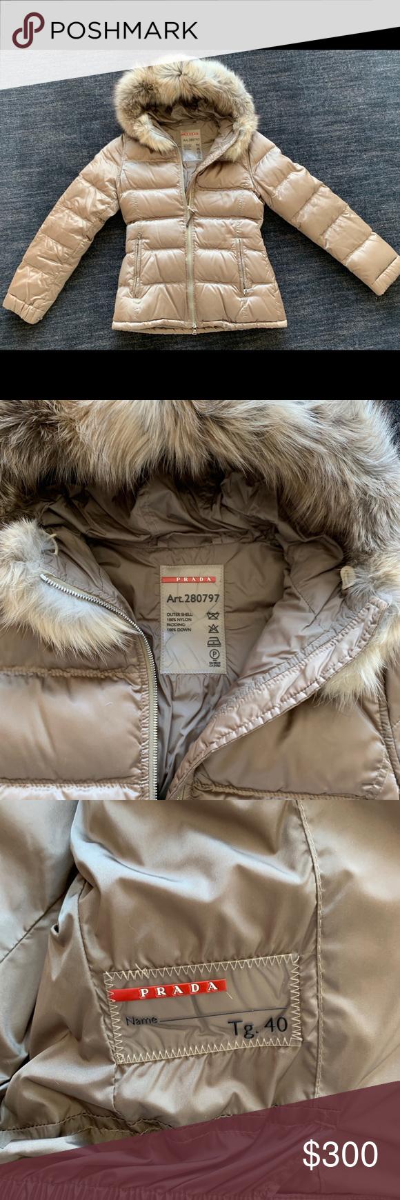 Prada Sateen Puffer Jacket With Fur Trim Hood Puffer Jacket With Fur Fur Trim Puffer Jackets [ 1740 x 580 Pixel ]