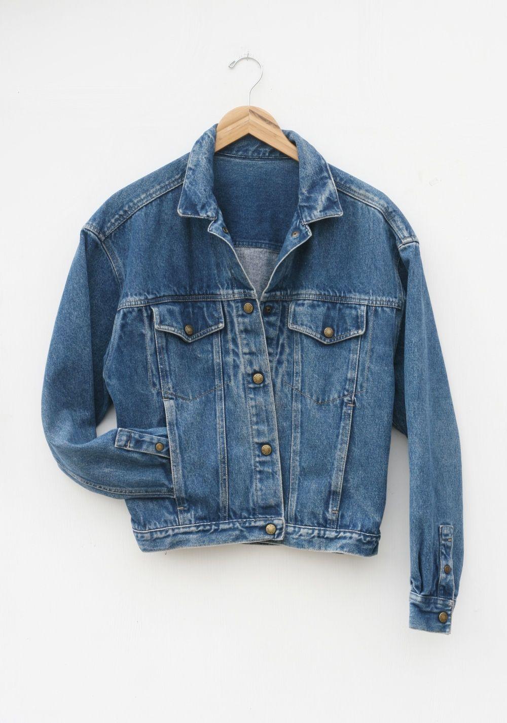 c2cfe7d8730c5 Vintage Calvin Klein Denim Jacket — Everything Golden