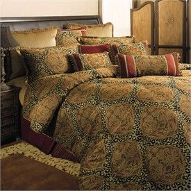 Red Cheetah Print Bedding Damask And Leopard Comforter Set By Sherry Kline Comforter