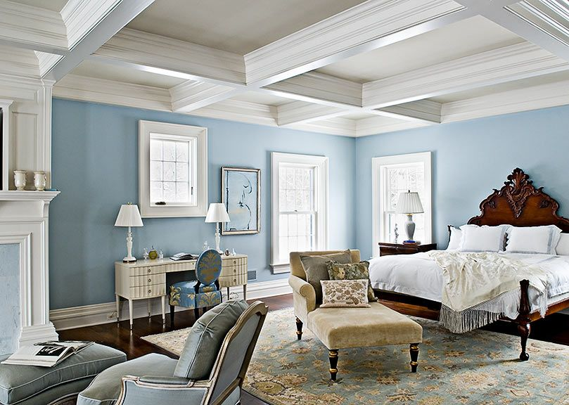 Love The Blue Walls And Ceilings