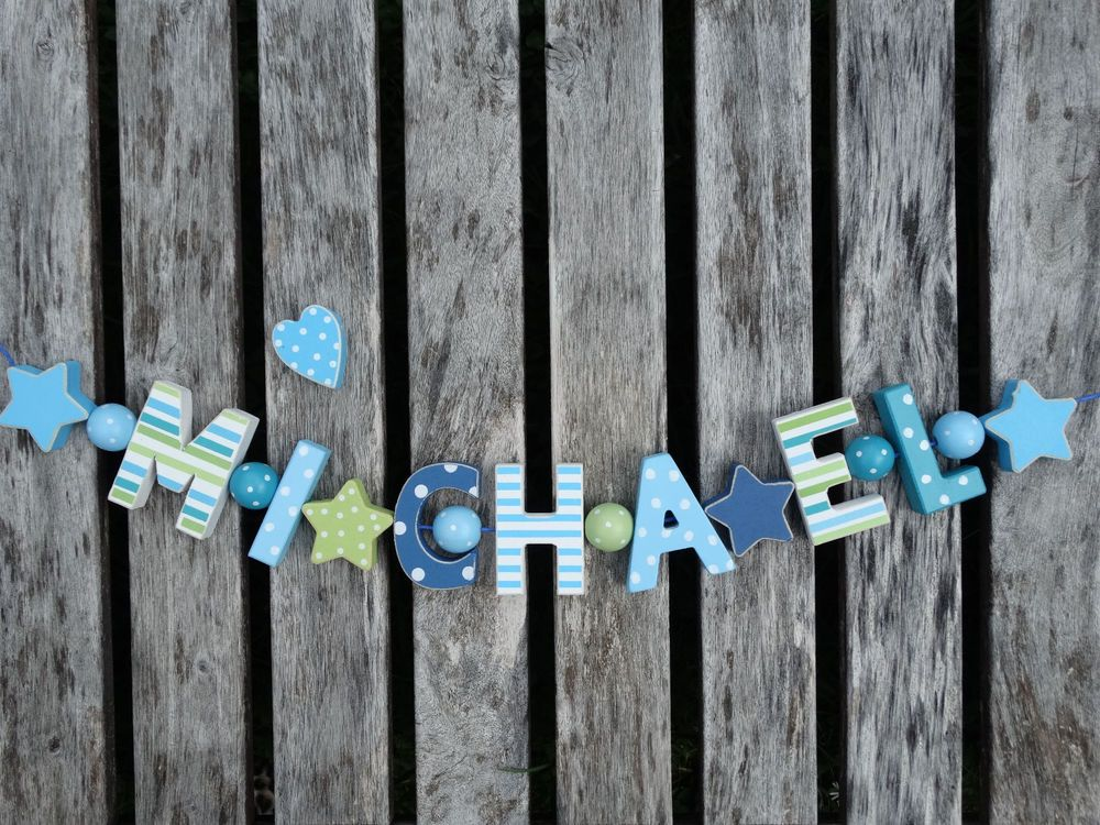 michael wooden door letters baby name shower nursery gift decor