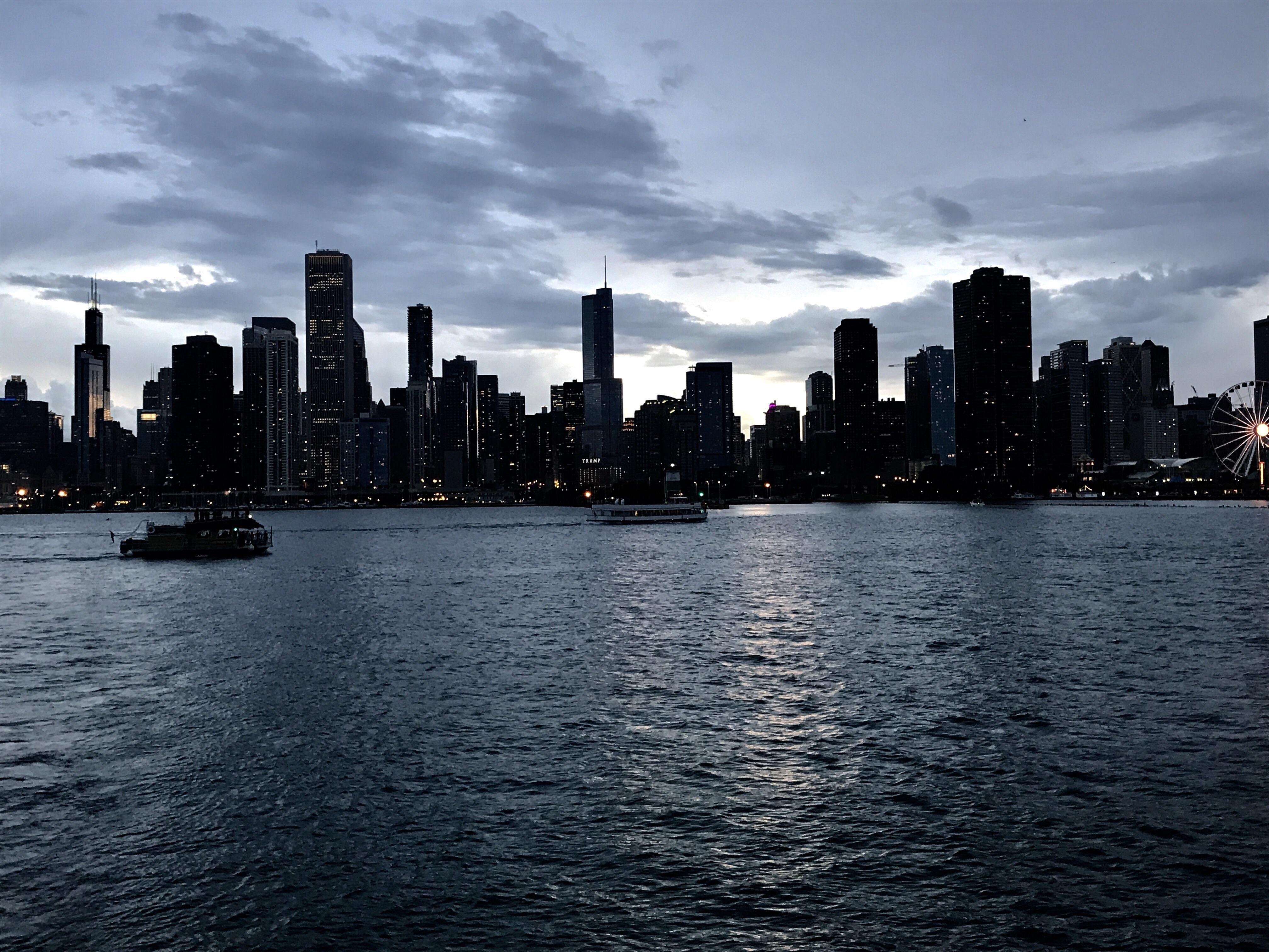 Chicago Skyline WALLPAPERS Pinterest
