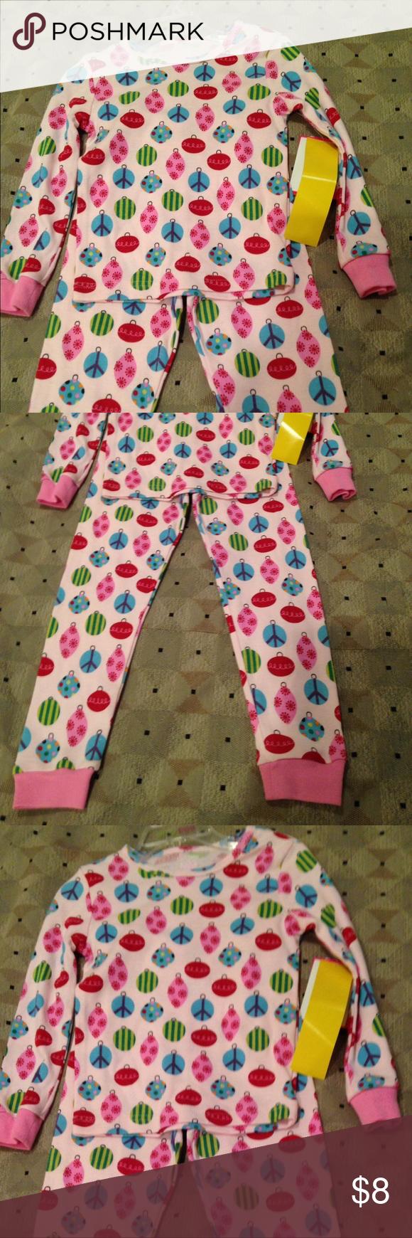 Amy Coe 2 pieces kid pajamas Cute 2 pieces Amy Coe size 4T color pink with ornaments Amy Coe Pajamas Pajama Sets
