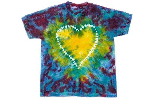 Jacquard Stitched Tie Dye T-shirt