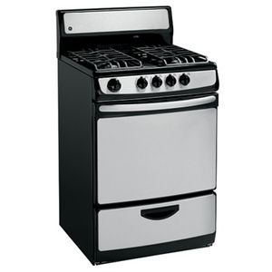 Ge Jgas02senss Range Black With Stainless Steel Stoves Appliances Freestanding Electric Ranges Gas Range Stainless Steel Range