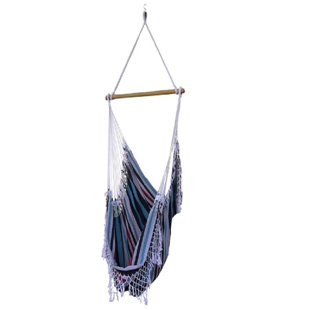 Vivere ft brazilian style cotton hammock chair in denim