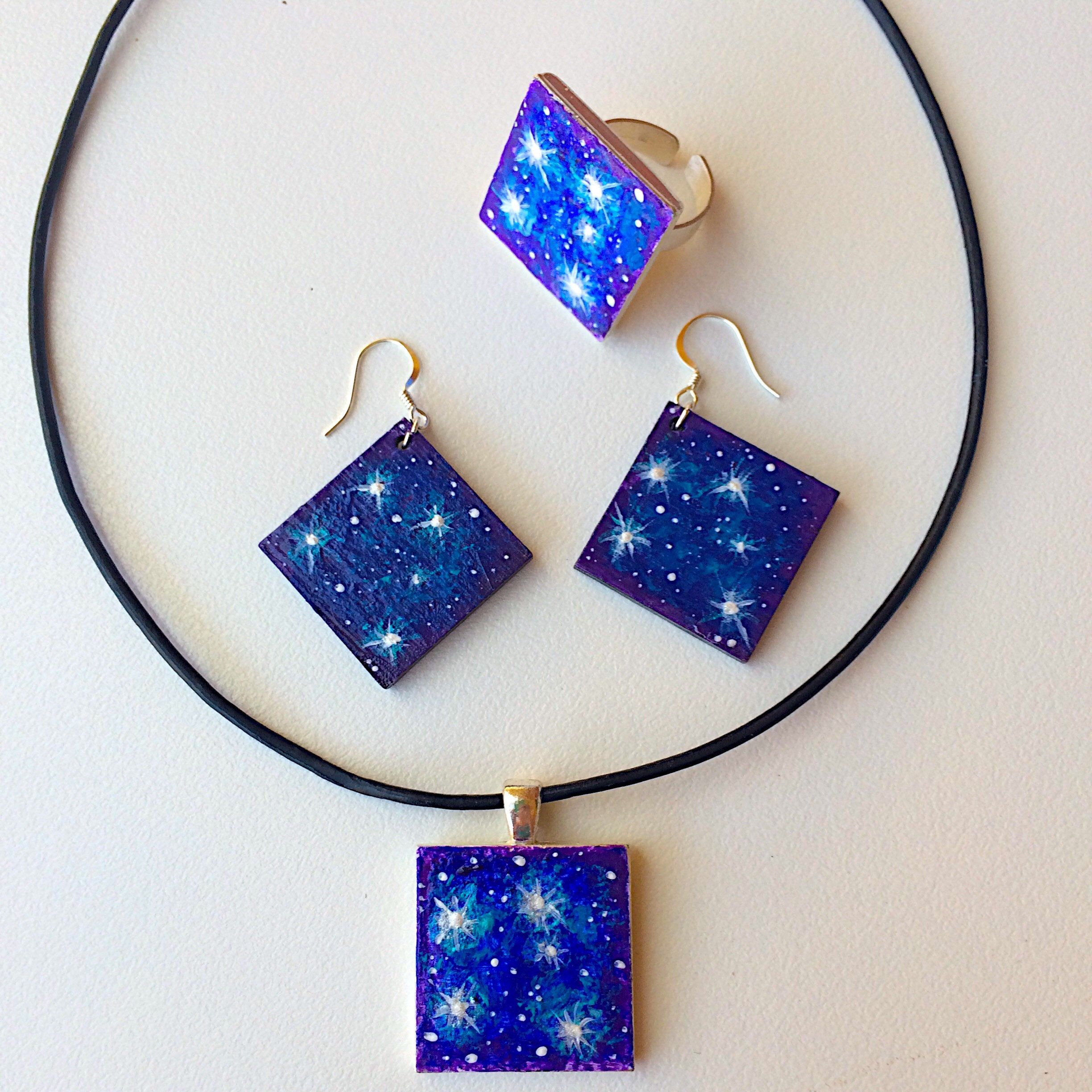 night sky chandelier products necklace earrings