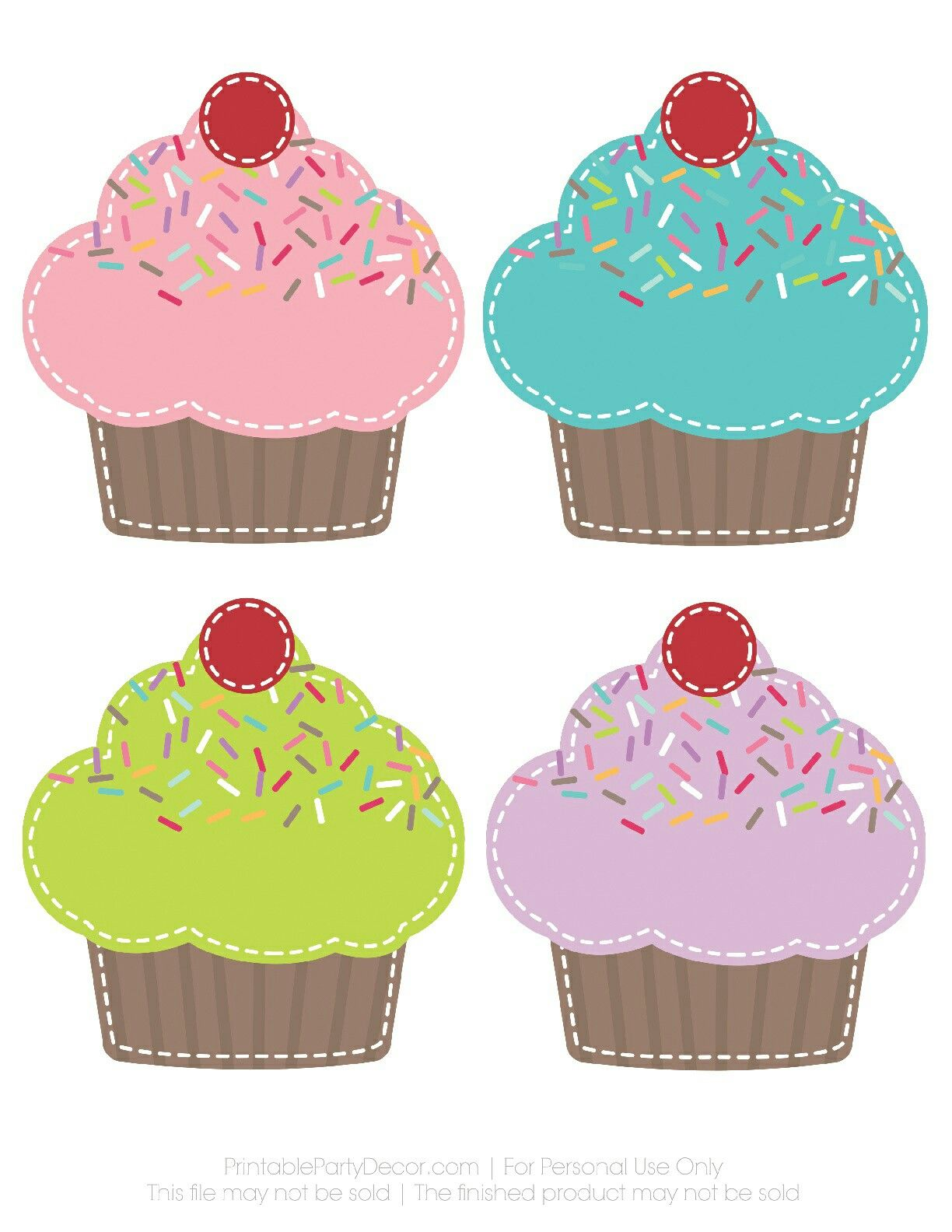 Para hacer guirnalda de cupcakes. | Manualidades | Pinterest | Kita