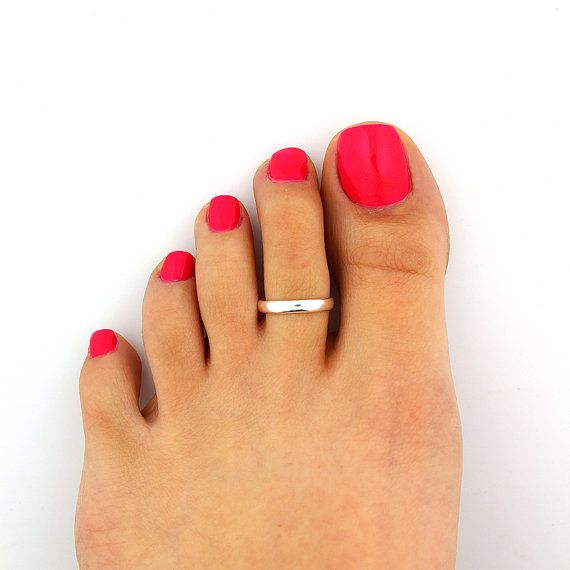 sterling silver toe ring simple design adjustable by