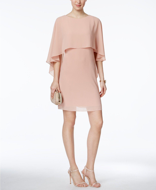 Vince Camuto Capelet Shift Dress Macys Com Womens Shift Dresses Shift Dress Below The Knee Dresses [ 1500 x 1230 Pixel ]