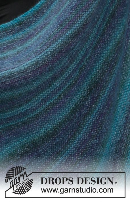 Photo of Mermaid wrap / DROPS 203-15 – free knitting patterns by DROPS design