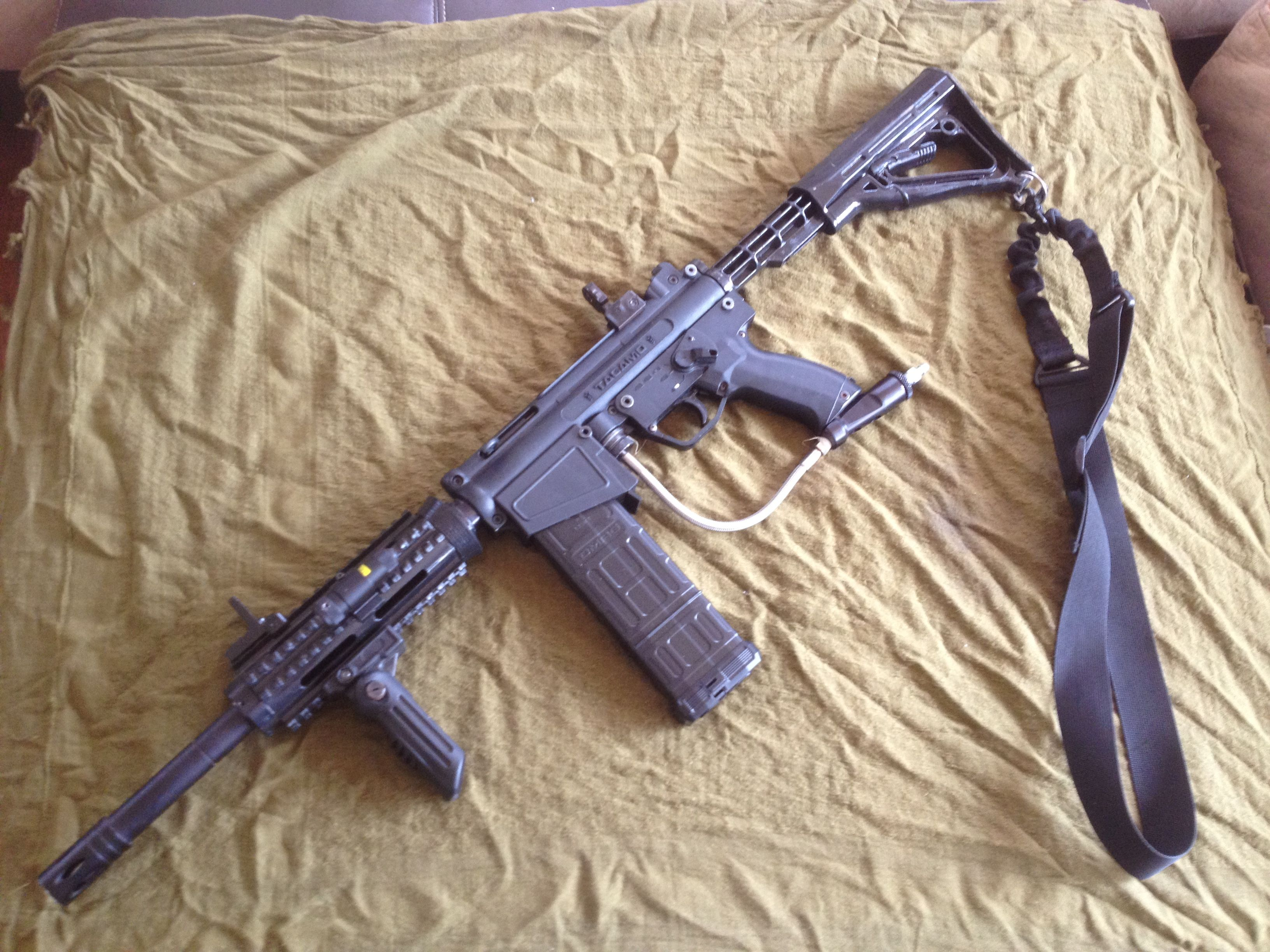 my a5 with dmag and tacamo mag fed kit 14 inch barrel ris hand