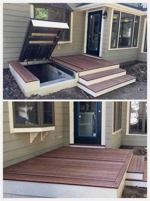 Basement Room Door Ideas: Hidden Basement Entrance From Outside