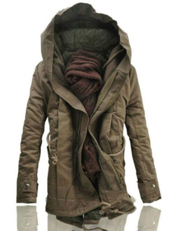 NEW Winter Mens Military Trench Coat Ski Jacket Hooded Parka Thick Cotton 32dac85d2c