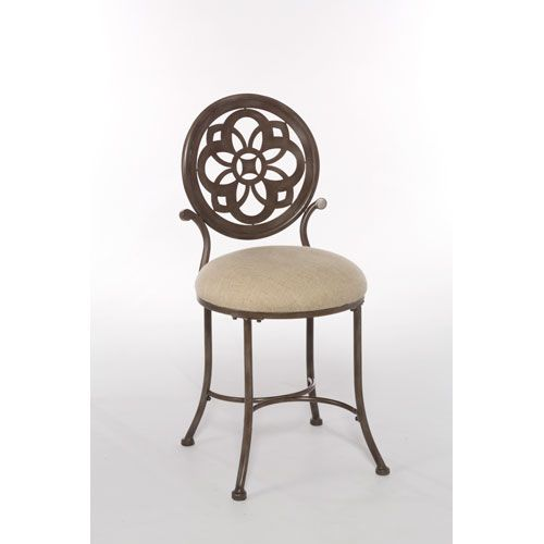 Marsala Gray with Rust Highlights Vanity Stool