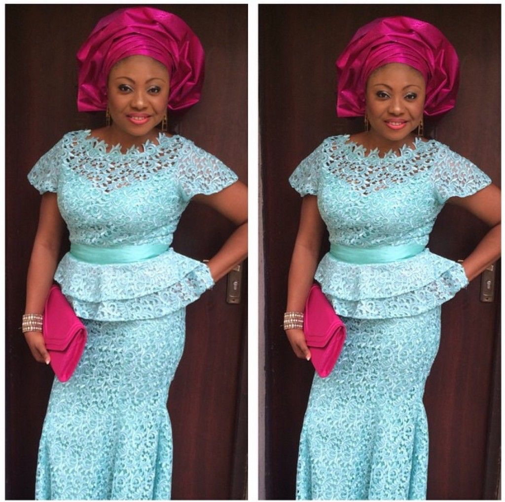 White Lace Kaba Styles Pictures To Pin On Pinterest