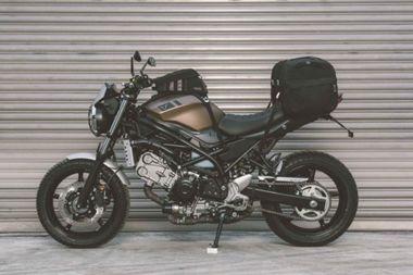 Scrambler Kit. Accessories to customize. Suzuki SV650 ABS (15-). | Bike saddle  bags, Suzuki sv 650, SuzukiPinterest