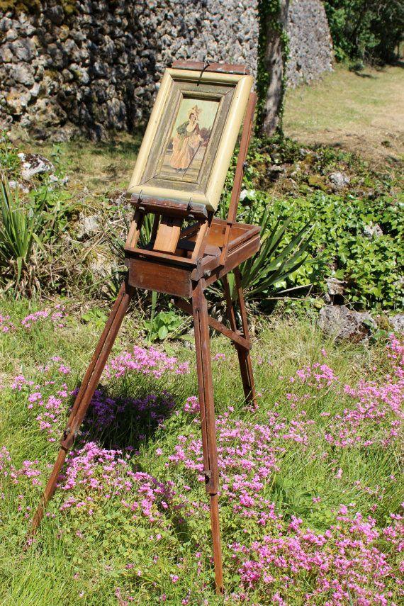 vintage french artist easel innova painters foldable mid century