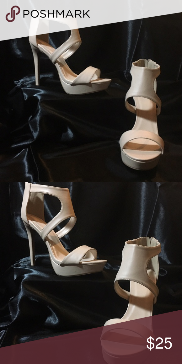 Beige Beauties Everyone needs a pair of beige heels to wear. They match everything. Never been worn. Charlotte Russe Shoes Heels