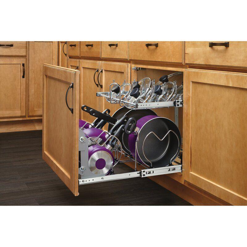 2 Tier Pull Out Kitchenware Divider In 2021 Diy Kitchen Storage Kitchen Design Diy Cookware Organization