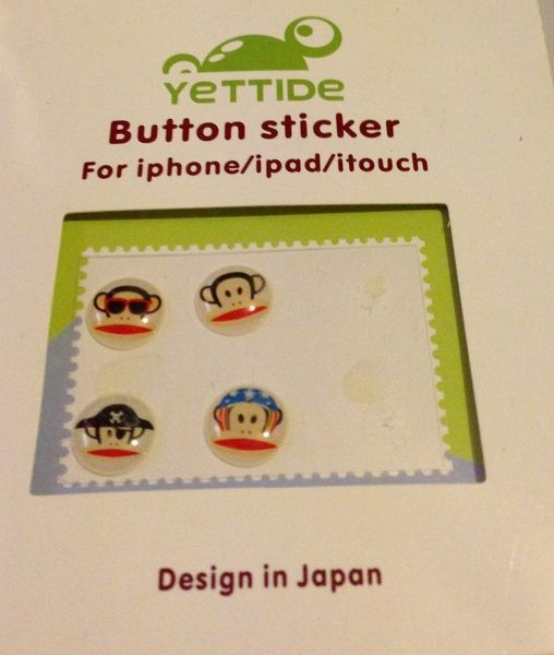Button Sticker for your IPhone, iPod or iPad