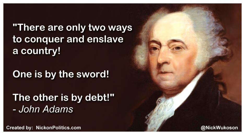 Image result for two ways to enslave a nation john adams