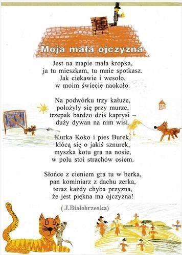 Wierszyk Ojczyzna Polish Language Poems About School