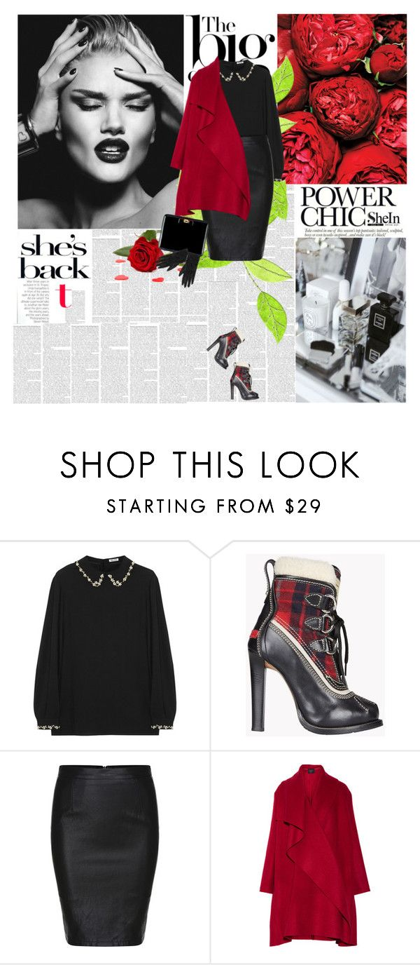"""""""Shein"""" by amimcqueen ❤ liked on Polyvore featuring Emma Watson, Miu Miu, Dsquared2, Lanvin, Givenchy, women's clothing, women's fashion, women, female and woman"""