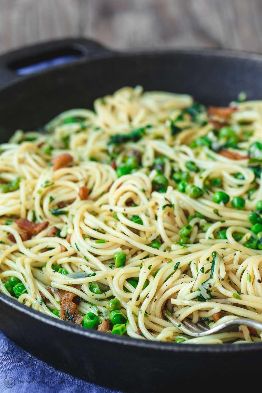 Simple Pasta With Peas And Pancetta Recipe Easy Pasta Recipes