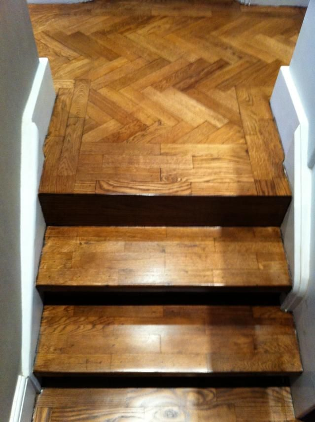 Best Parquet Staircase After Sanding Staining With Blanchon 400 x 300