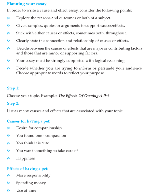 9th Grade Cause And Effect Essay Sample Writing Skills Example