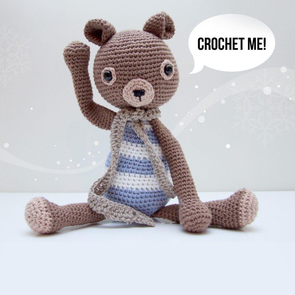 Free pattern crochet tutorial/pattern Teddy bear using cotton yarn ...