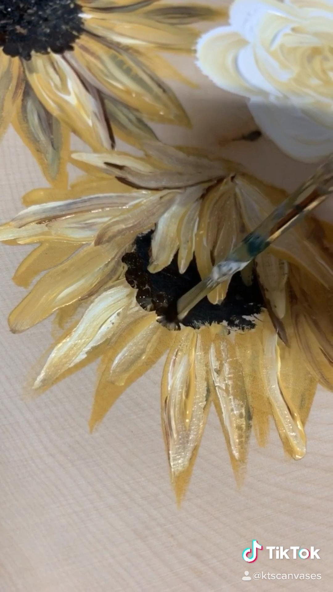 sunflower painting @ktscanvases