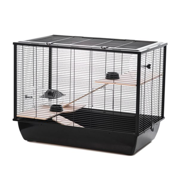 The Langham Tall Rat And Hamster Cage With Two Floors Black Little Pet Warehouse Hamster Cage Pet Warehouse Hamster
